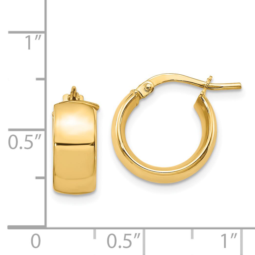 Leslies 14k 6mm High Polished Hoop Earrings - image 1 de 2