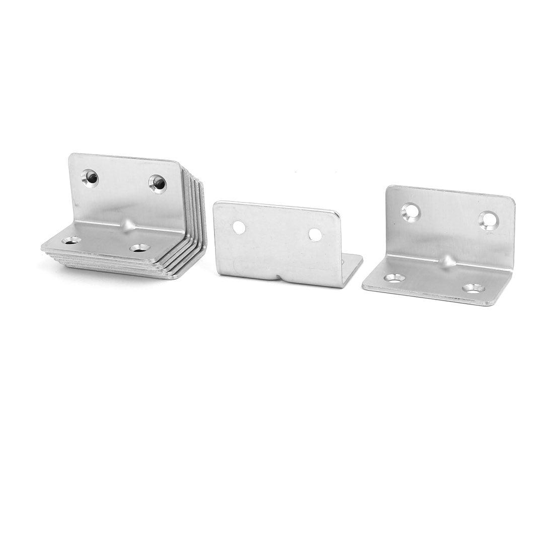 Unique Bargains31mmx31mmx50mm Stainless Steel Right Angle Bracket Corner Brace Fastener 8pcs