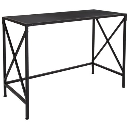 Tiverton Collection Flash Furniture Industrial Style Computer Desk with X Frame in Dark (Style Collection Computer)