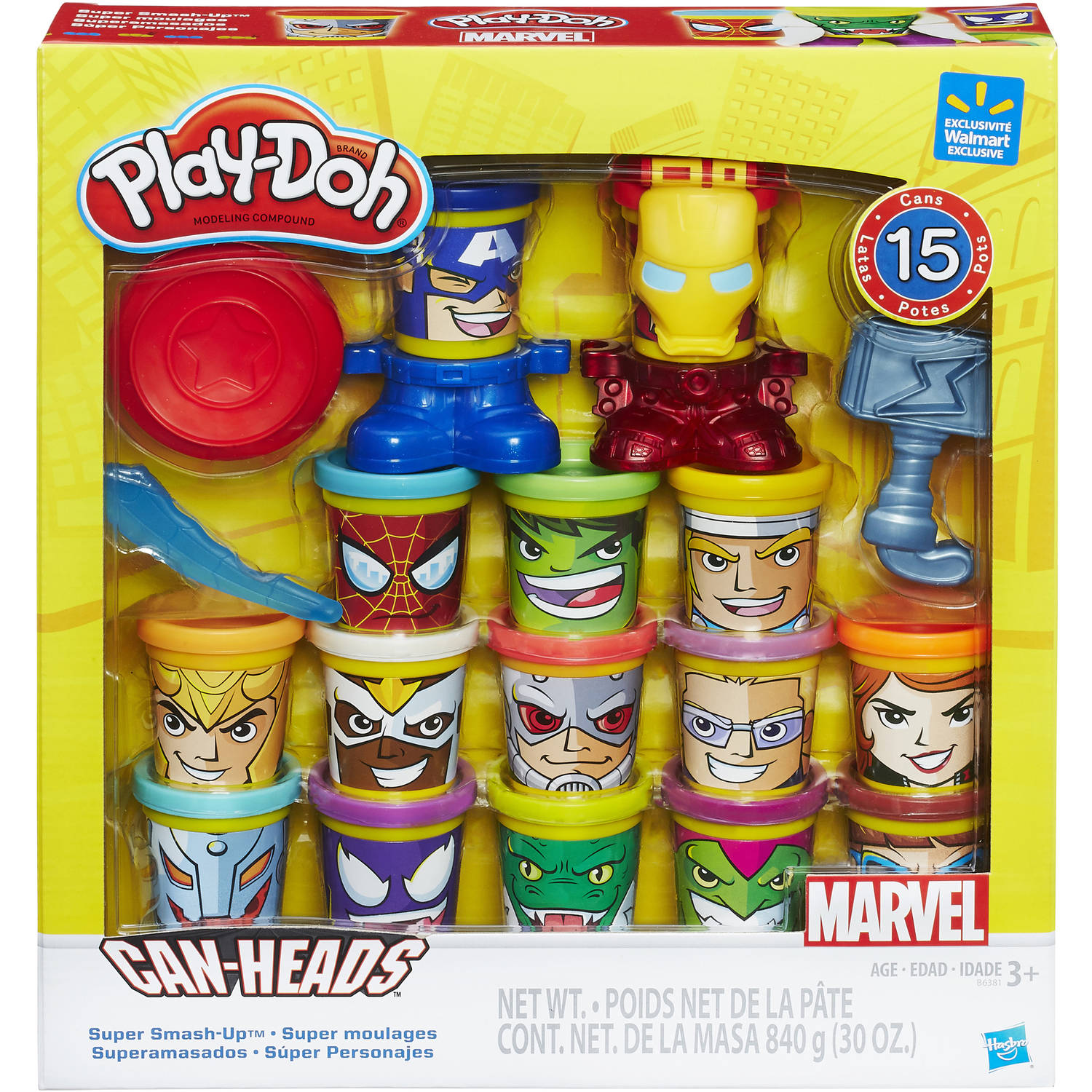 Play-Doh Marvel Super Smash-Up with Can-Heads