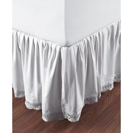 Crochet Tailored Split Corner Bedskirt - One Allium Way Marchant Crochet Cotton Bed Skirt