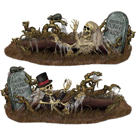Doomed Groom Buried Bride Prop Halloween Decoration - Decoration Tombe Halloween