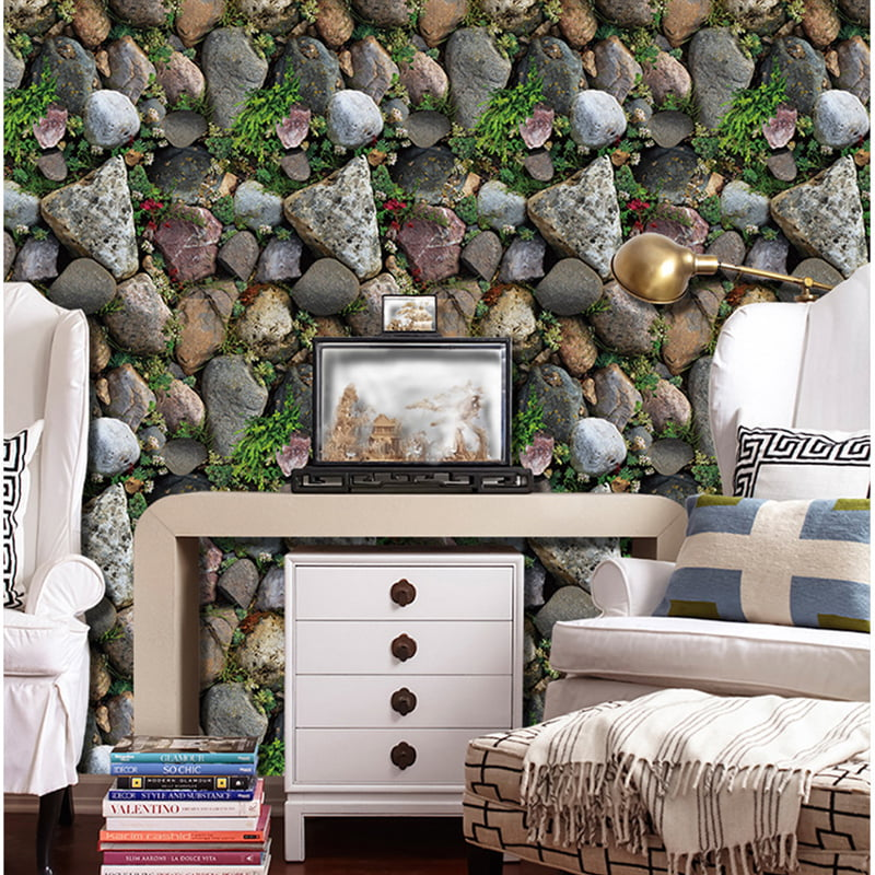 1pc 17 7 X4 3d Roll Wallpaper Natural Embossed Brick Peel And Stick Wallpaper Vintage Self Adhesive Wallpaper Removable Wall Stickers Mordern Home Decor Waterproof Decals Walmart Com Walmart Com
