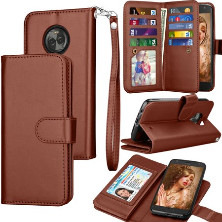 newest collection 014a8 b6ad7 Moto X4 Wallet Case, Moto X4 PU Leather Case, Moto X4 Cover, Tekcoo PU  Leather Cash Credit Card Slots Holder Carrying Folio Flip Cover [Detachable  ...