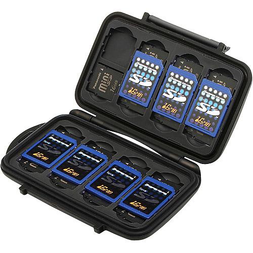 Pelican 0910 Memory Card Case - Media storage box - capacity: 8 SD cards, 16 miniSD cards - black