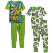 Teenage Mutant Ninja Turtle Baby Toddler Boy Cotton Tight Fit Short Sleeve PJs, 2-Sets