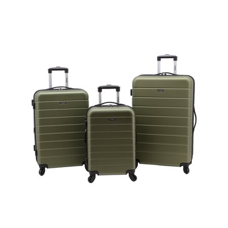 - Wrangler 3-Piece Hardside Luggage Set