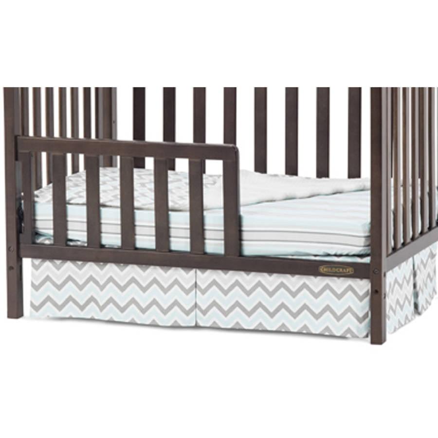 Child Craft Ashton and Bradford Mini Crib Toddler Guardrail, Slate