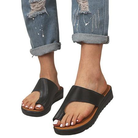 UKAP Women's Flip Flop Wedge Sandal Comfort Toe Ring Slids Slippers Summer Beach Travel Thong Sandal