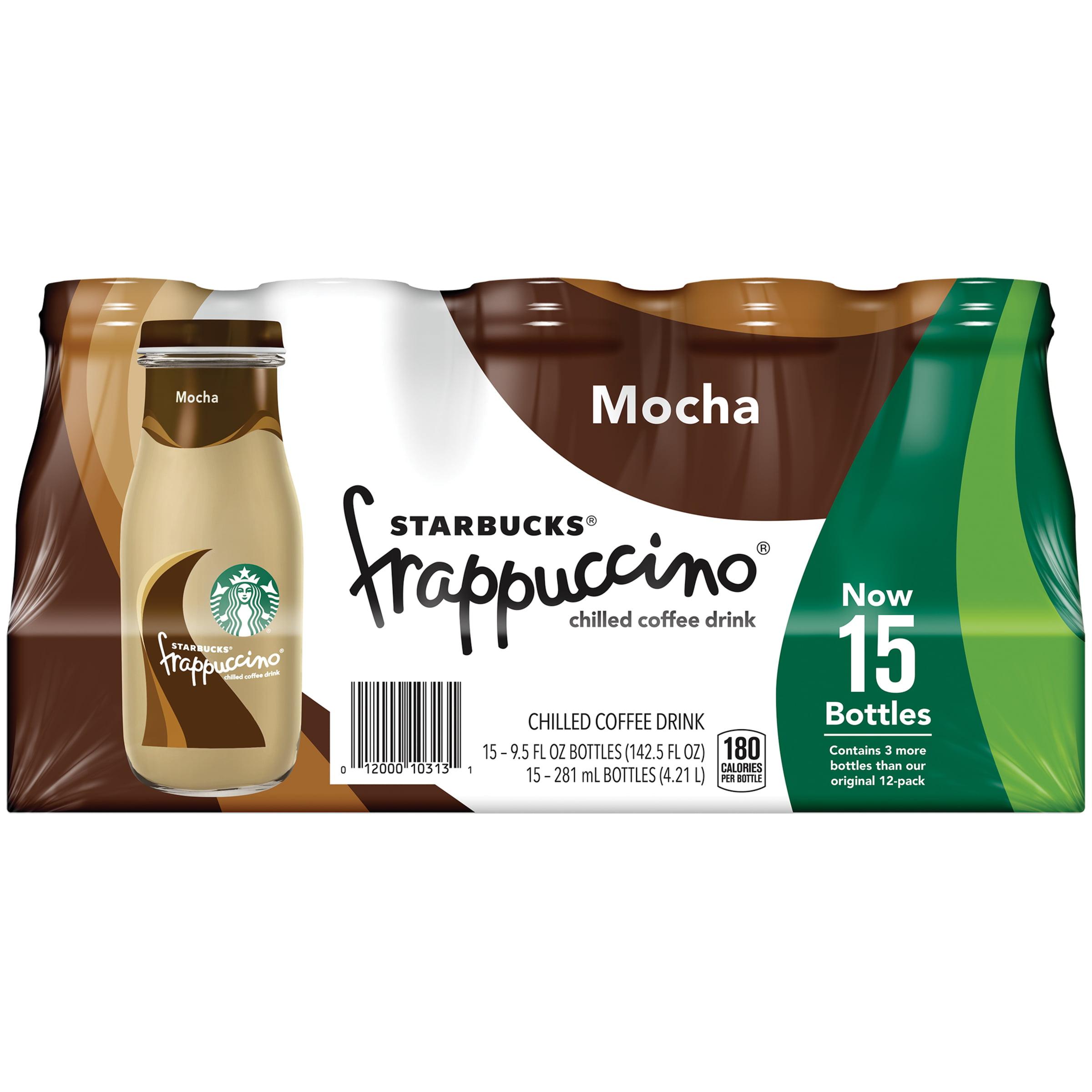 Starbucks Mocha Frappuccino 9.5 fl oz Chilled Coffee Drink 6 Pack