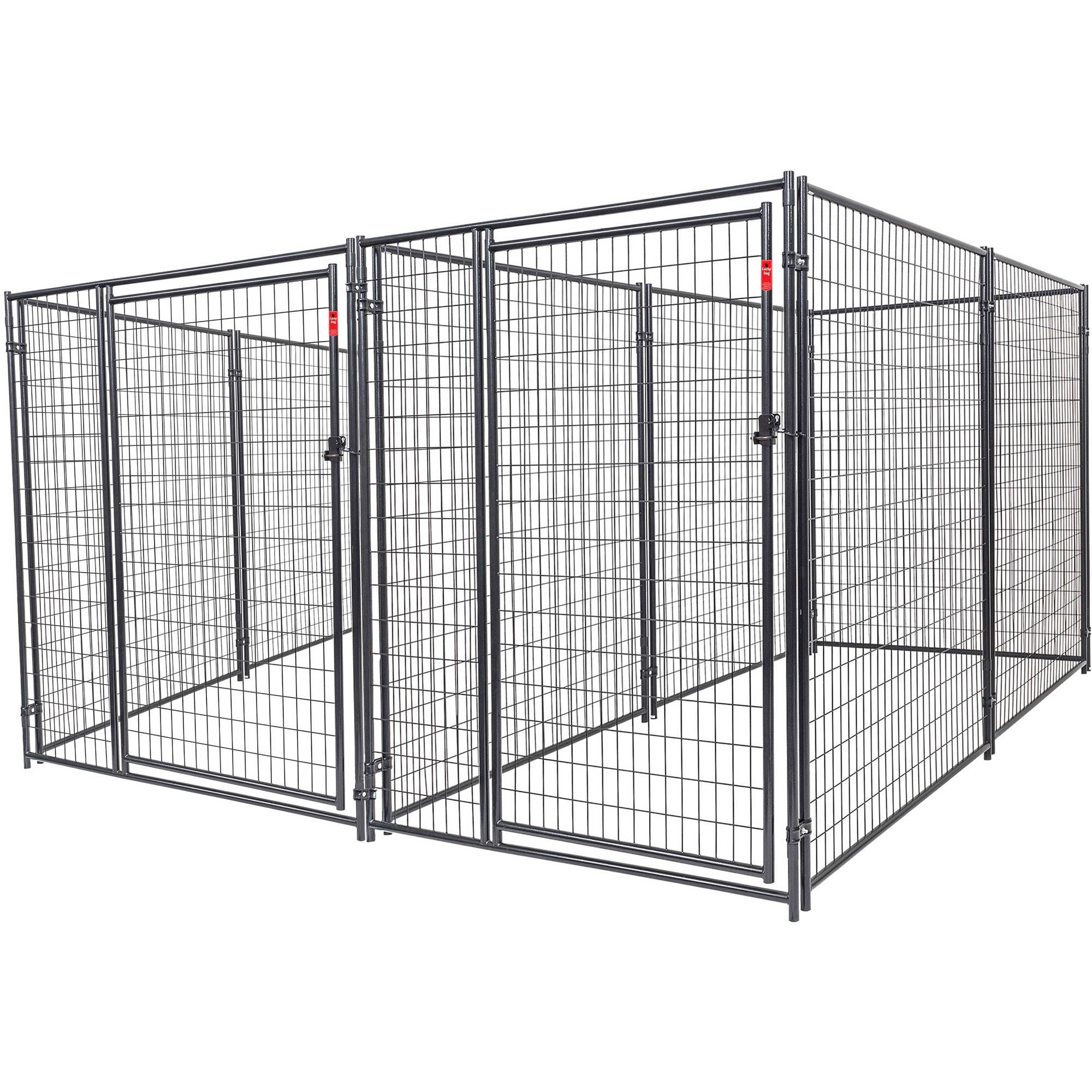 Lucky Dog Heavy Duty Dog Kennel 2-run w/common wall