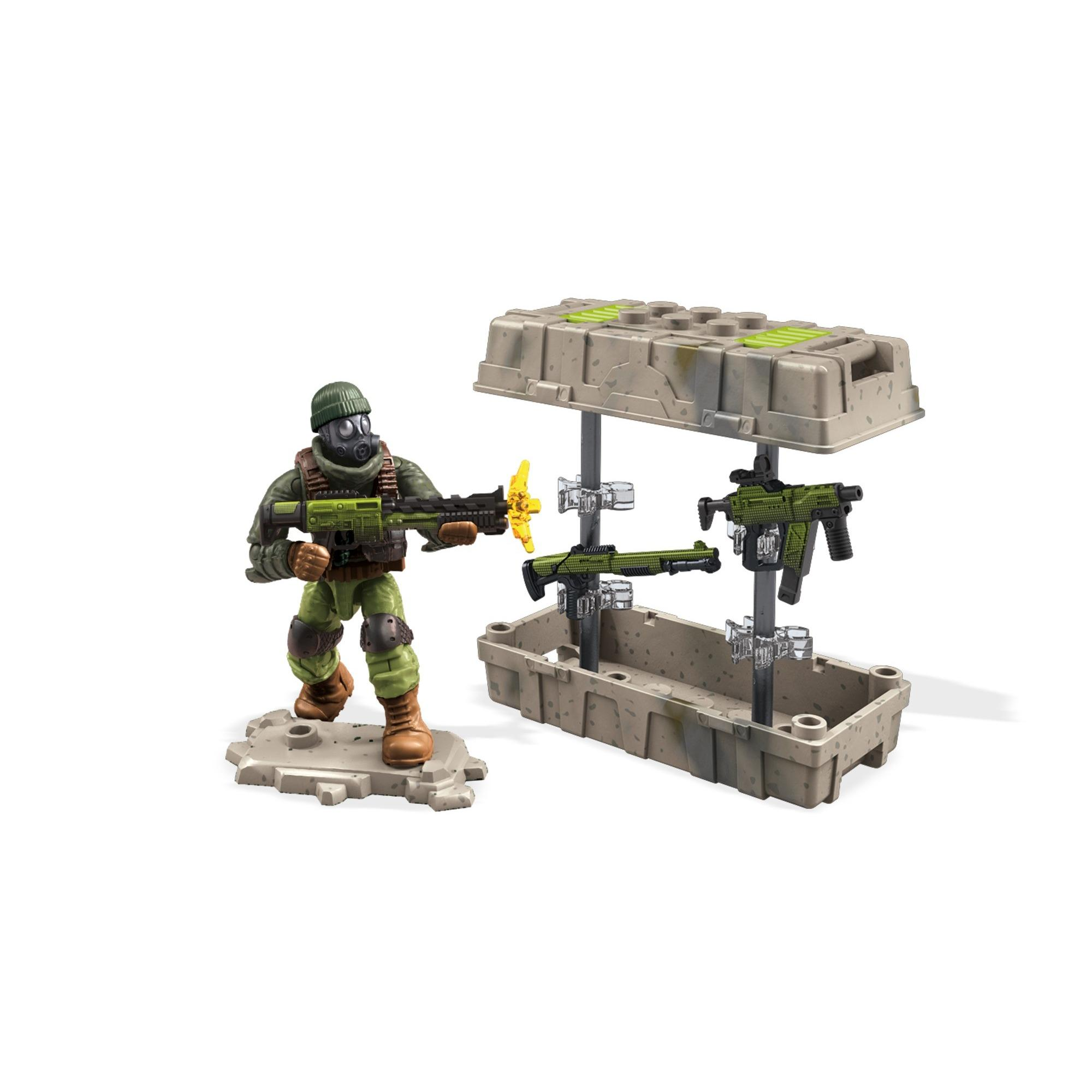 Mega Construx Call of Duty Care Package with Action Figure, Green