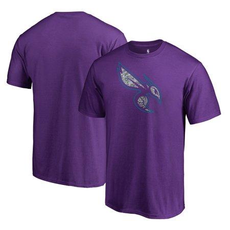 Charlotte Hornets Fanatics Branded Static Logo T-Shirt - Purple