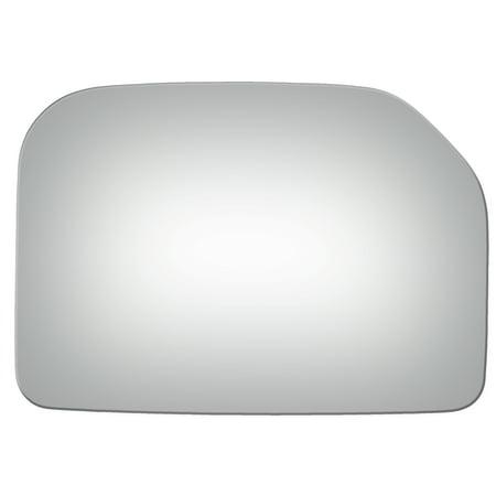 For 07-14 Toyota FJ Cruiser Passenger Side Drop Fit Convex Door Mirror Glass (Fj Cruiser Chrome Mirror)