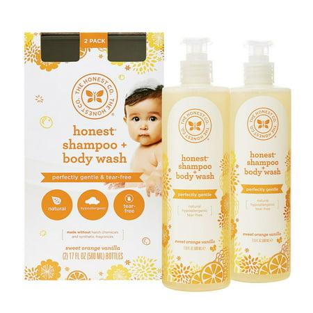 Product of Honest Orange Vanilla Shampoo and Body Wash, 17 fl. oz. [Biz Discount]