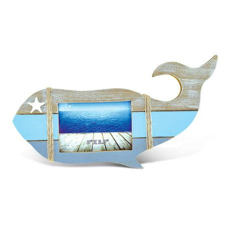 Whale Framed Tile - Nautical Décor Nautica Whale Shape Photo Frame 5
