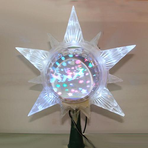 """13"""" """"The Early Years"""" LED Lighted Star with Revolving Globe Christmas Tree Topper"""