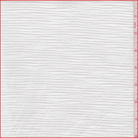 White Horizontal Rope Stripe Home Dec Canvas, Fabric By the Yard