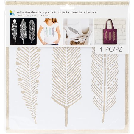 Momenta Adhesive Stencils 10 X10  3 Feathers