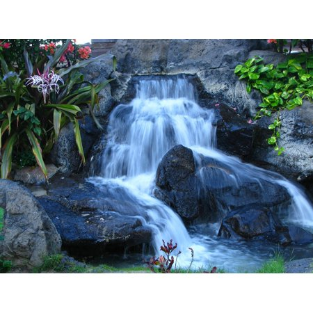 LAMINATED POSTER Oahu Tropical Waterfall Island Water Hawaii Poster Print 24 x 36