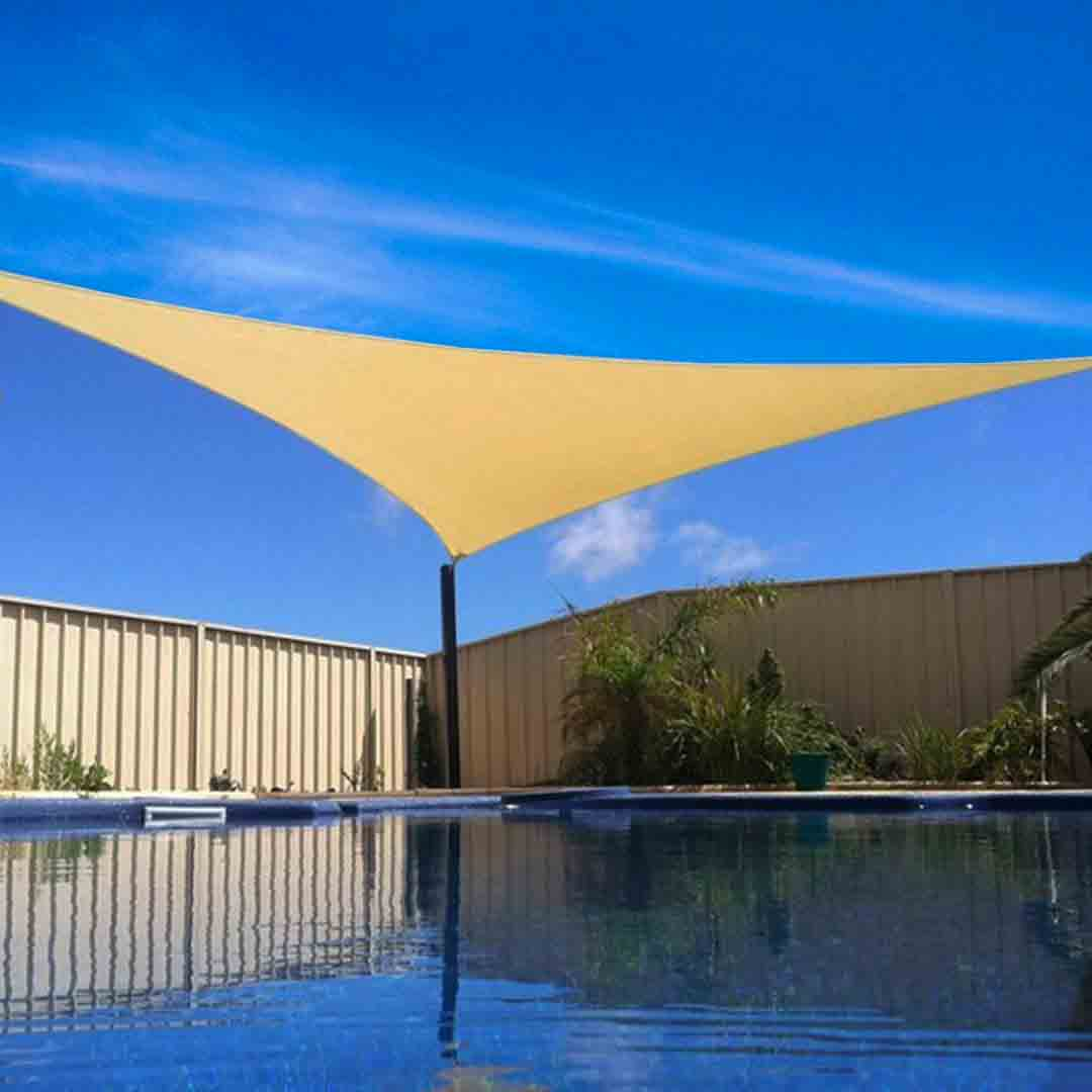 16 x 16' FT Feet Triangle UV Heavy Duty Sun Shade Sail Patio Cover Sand Canopy