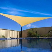 16 x 16' FT Feet Triangle UV Heavy Duty Sun Shade Sail Patio Cover Sand Canopy
