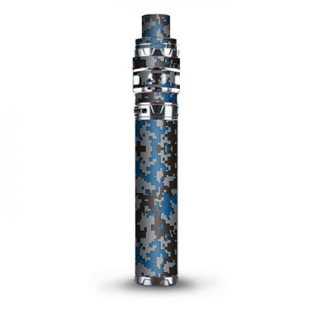 Digital Blue Mix Stick (Skin Decal Vinyl Wrap for Smok Stick Prince Kit TFV12 Prince Vape Kit skins stickers cover / Digi Camo Sports Teams Colors digital camouflage Blue Grey)
