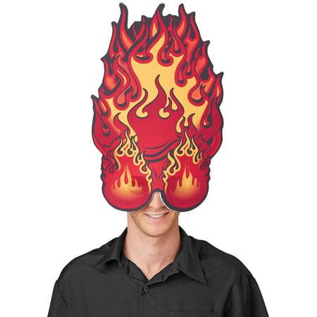 Hothead Mask Halloween Accessory