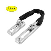 Unique Bargains Home Door Security Chain Guard  Bolt Lock Stainless Steel Silver Tone 3pcs