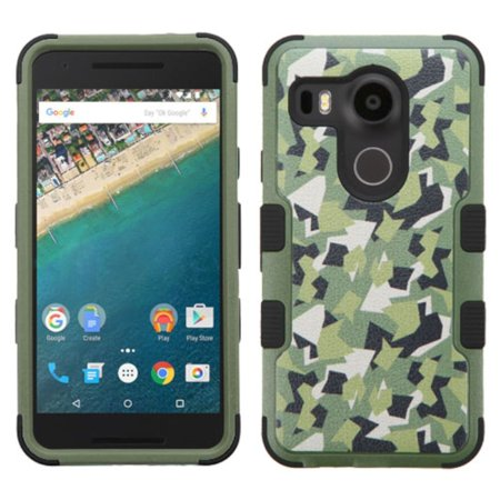 Insten Tuff Camouflage Hard Hybrid Rubberized Silicone Cover Case For LG Google Nexus 5X - (Best Accessories For Nexus 5x)