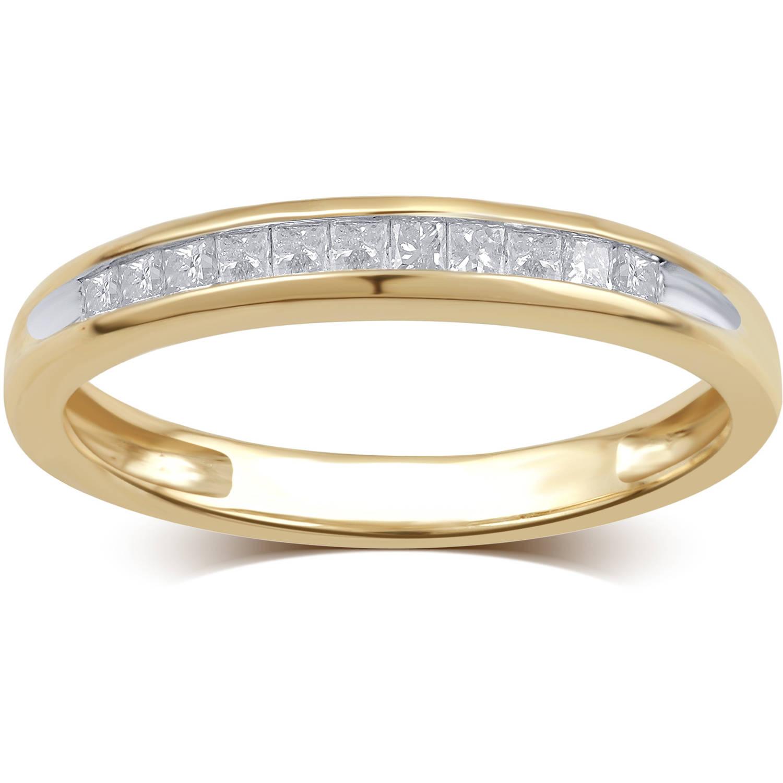 1/4 Carat T.W. Diamond 10kt Yellow Gold Wedding Band, I-J/I2-I3