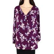 Womens Blouse Plus Floral Print Twist Front 3X