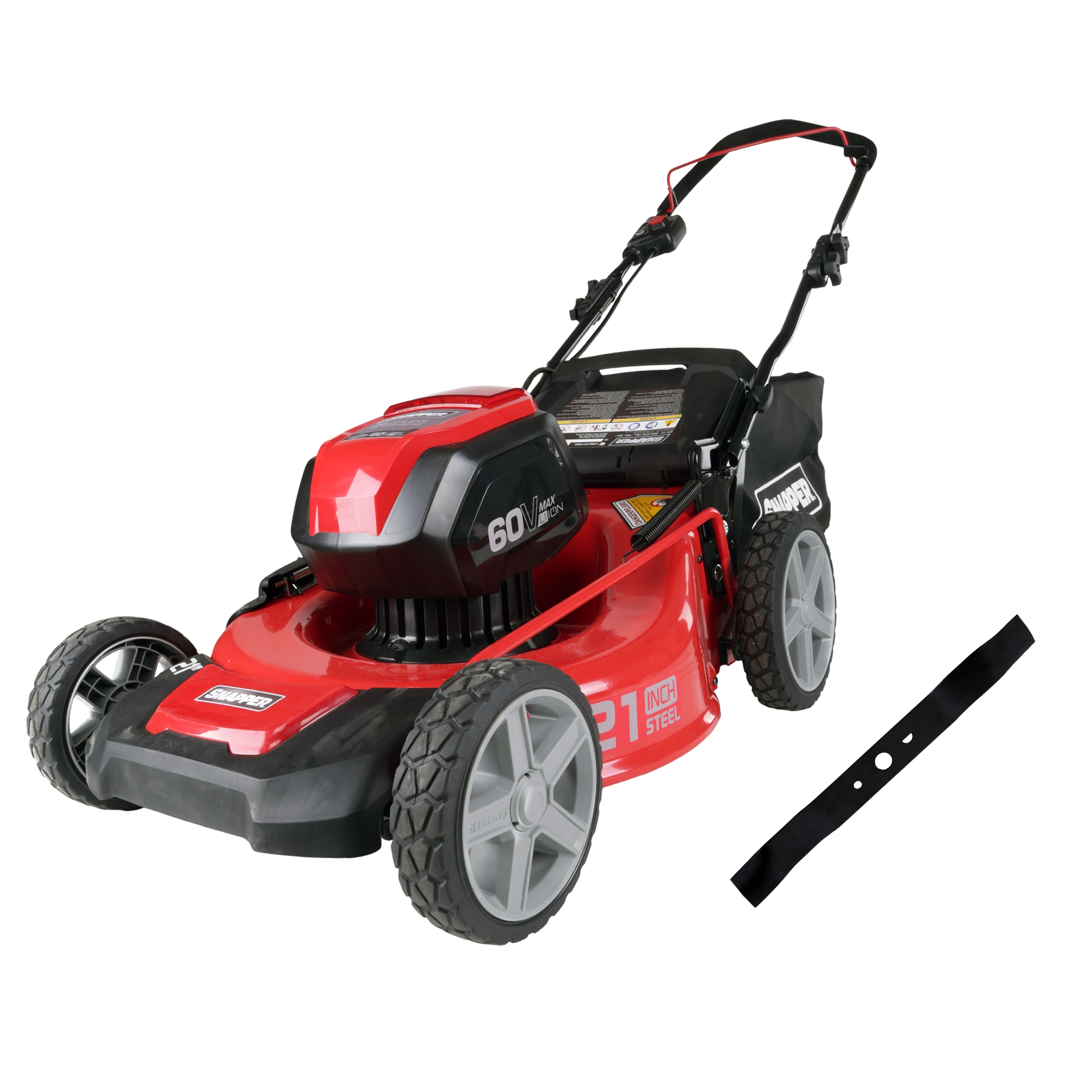 "Snapper 21"" 60V Mower, 4ah Battery and Charger Included SP60V + Replacement Mower Blade"
