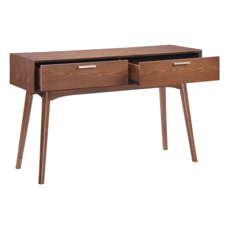 Zuo design district console table in walnut for Epl table 98 99