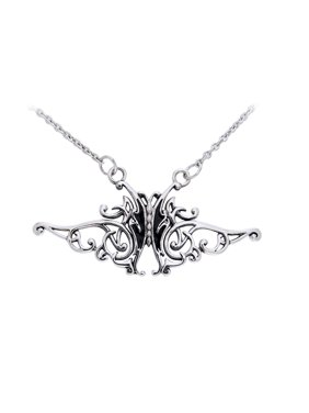 f97253974bce1 Product Image Flowing Celtic Knot and Black Butterfly Sterling Silver  Adjustable 17