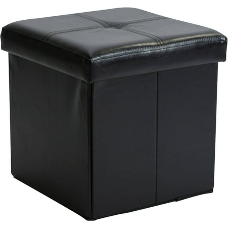 Simplify Single Folding Ottoman, Black ()