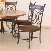 Artisan Home Furniture Valencia Metal Dining Side Chair - Dark Brown - Set of 2