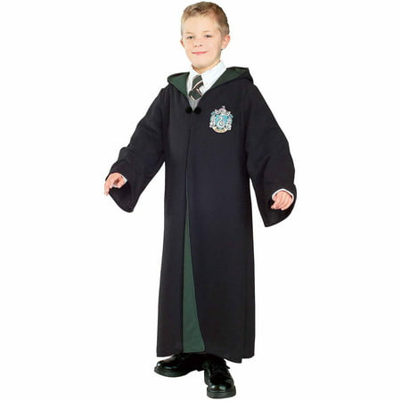 Harry Potter Deluxe Slytherin Robe Child Halloween Costume - Harry Potter Themed Dress