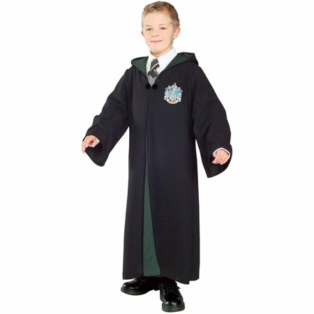 Harry Potter Deluxe Slytherin Robe Child Halloween Costume (Entertaining A Harry Potter Halloween Party)