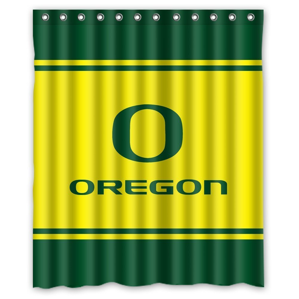 Beau DEYOU Oregon Ducks Shower Curtain Polyester Fabric Bathroom Shower Curtain  Size 66x72 Inch