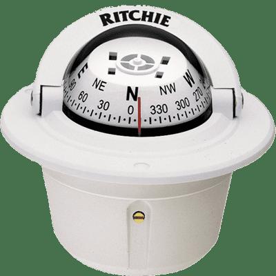 Ritchie F-50W Explorer Flush Mount Compass, White FO-3225
