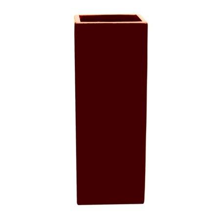 Lerman Decor Red Ceramic Square Vase Walmart