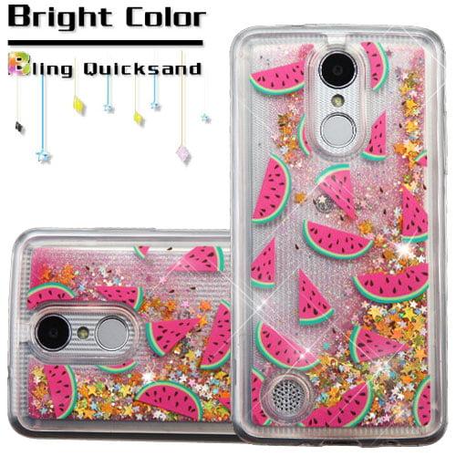 the latest 4ad5f 22462 For LG K4/Phoenix 3/K8/Aristo Liquid Quicksand Glitter Protector Cover Case