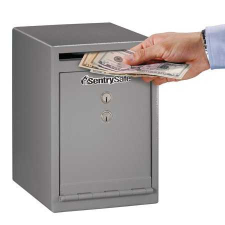SentrySafe Under Counter Drop Slot Business Safe with Key Lock, UC-039K
