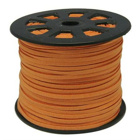 Faux Leather Suede Beading Cord, Dark Orange (10 feet)