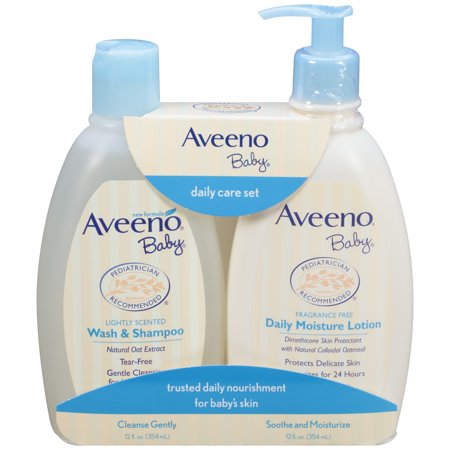 Aveeno Baby Daily Care Set with Natural Oat Extract, 2 Items