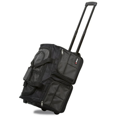 20 Inch Weekender - Hipack 20-Inch Carry-On Rolling Duffle Bag - Charcoal