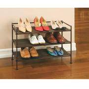Seville Classics 3-Tier Resin Slat Shoe Rack - WEBK272