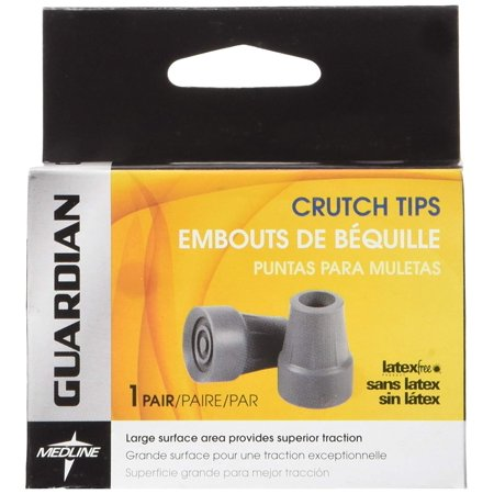 Medline Flange Tip (3 Pack Medline Guardian Latex Free Crutch Tips, 7/8