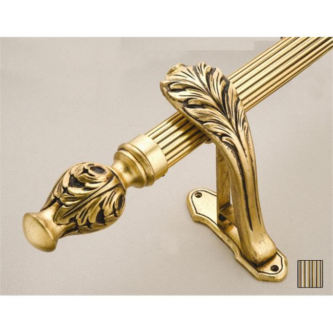WinarT USA 8. 1077. 30. 29. 280 Palas 1077 Curtain Rod Set - 1. 25 inch - 110 inch